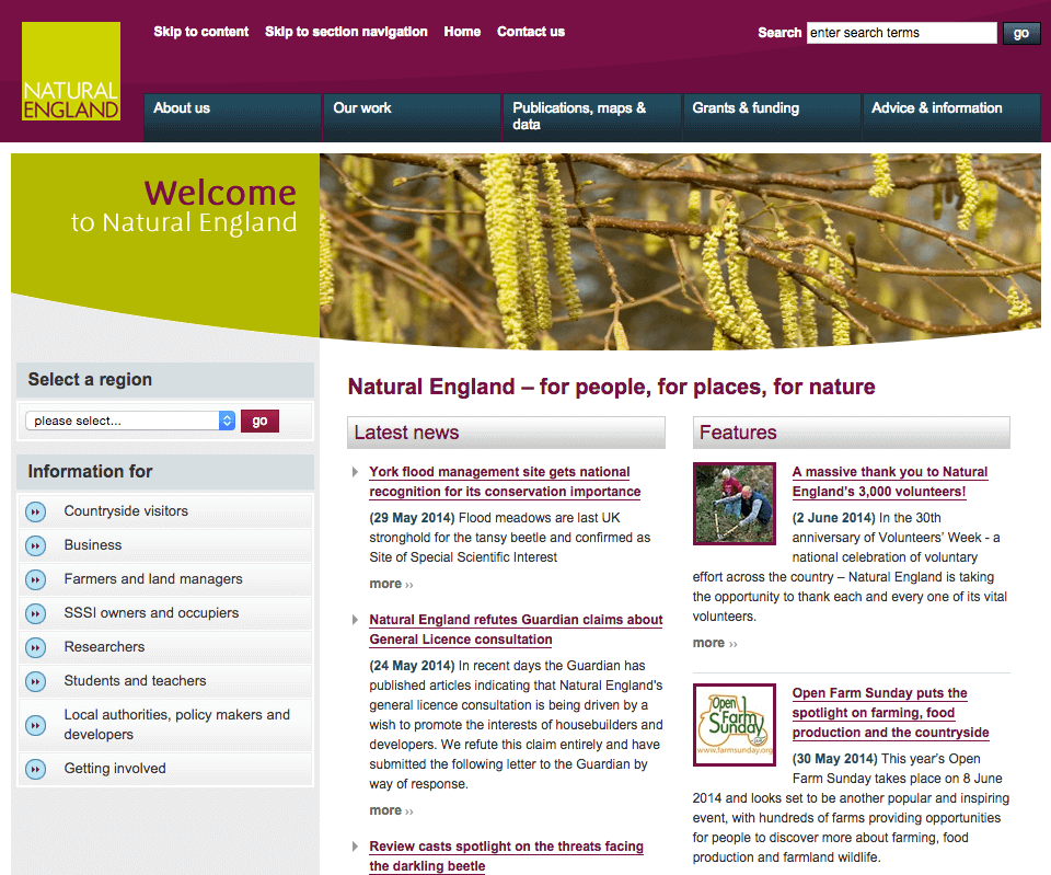 Natural England Corporate Website